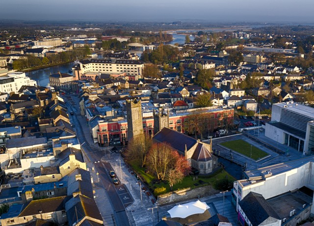 Ariel view of Athlone, Ireland