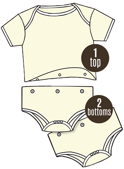 Image of the Twosie from BabyBoss 1 top 2 bottoms