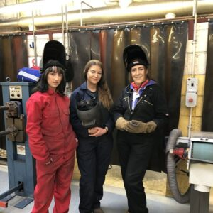 Danielle Burns, Sarah Louise McGinty, Dominie McDyer Female Welders