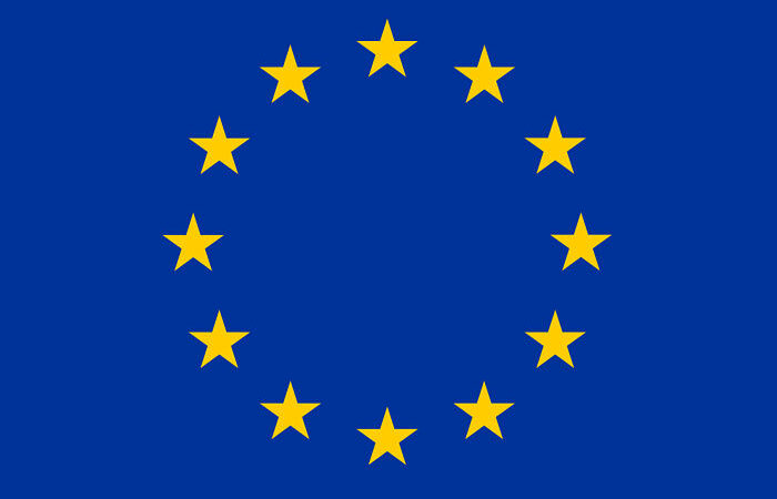 EU Emblem Blue Background 12 yellow stars