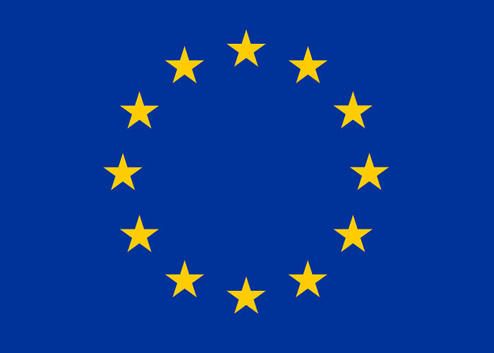 EU Emblem Blue Background 12 yellow stars