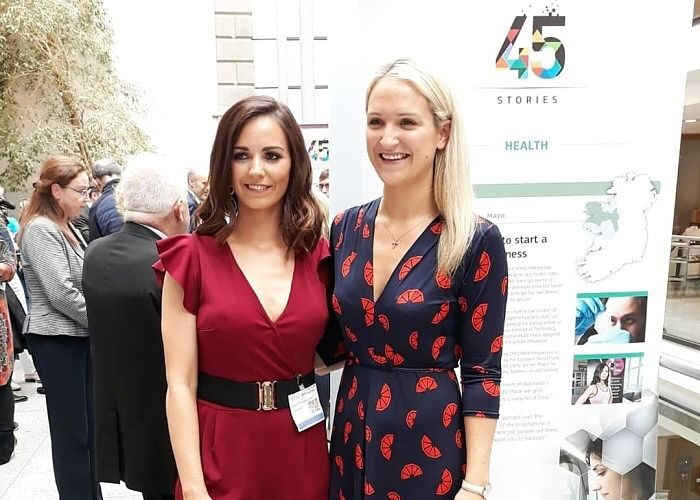 Michelle Malone with Minister Helen McEntee